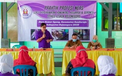 35 Mahasiswa Kampus Ungu Praktek Ners Di Desa Sumur Agung Kecamatan Sumberejo