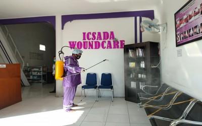 Antisipasi Penyebaran Covid-19 Kampus Ungu Lakukan Penyemprotan Desinfektan yang Ke 78 Di ICW