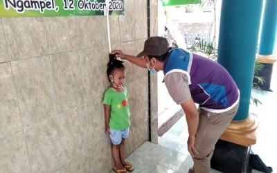 Kegiatan Posyandu Balita Oleh Tim Sahabat Pertamina Di Desa Binaan