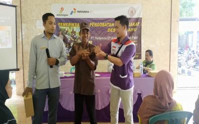 Pemeriksaan dan Pengobatan Masyarakat Sahabat Pertamina di Desa Rahayu