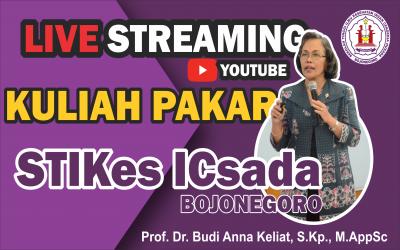 Live Streaming Kuliah Pakar Prof. Dr. Budi Anna Keliat, S..Kp., M.AppSc