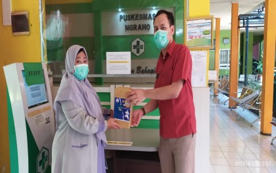 Lawan Virus Corona Covid-19, Garuda ICsada Bagikan APD Untuk Tenaga Medis Di 5 Puskesmas Di Bojonegoro