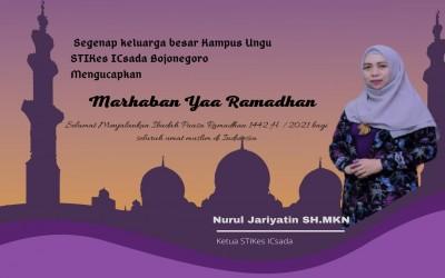 Segenap Civitas Akademik STIKes Insan Cendekia Husada Mengucapkan Selamat Menunaikan Ibadah Puasa Ramadhan 1442H