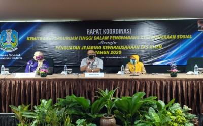 Kampus Ungu, Hadiri Papat Koordinasi Kemitraan Perguruan Tinggi Di Dinas Sosial Jawa Timur
