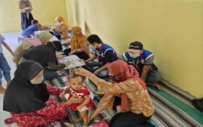 Tim Sahabat Pertamina Lakukan Partisipatif Posyandu Balita Di Tengah Pamdemi Dengan Protokol Kesehatan